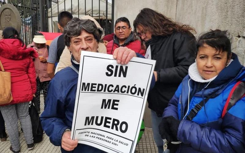 Frente a Salud | Sentida protesta de pacientes con VIH
